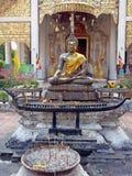 Siedzieć Buddha w Chiang mai Obraz Stock