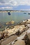 Siedzieć na doku zatoka Obrazy Royalty Free