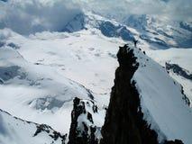 Sieg - auf dem Gipfel Stockfotos
