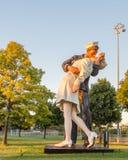 Sieg in der Europa-Tagesstatue, Woodward-Allee, Memorial Park, MI Stockfotos