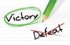 Sieg gegen Niederlage vektor abbildung