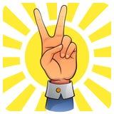 Sieg-Hand Stockbild