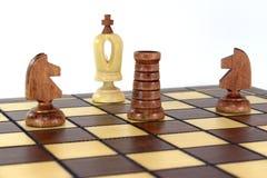Sieg im Schachspiel! Stockfotografie