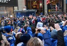 Sieg-Parade New- YorkGiants stockfotos