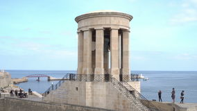 Siege Bell Memorial in Valletta, Malta stock footage