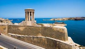 Siege Bell Memorial in Valletta Stock Images