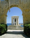 The Siege Bell,Valletta, Malta. Overlooking the Grand Harbour of Valletta is the Siege Bell Memorial erected in 1992 to honour over 7000 people who lost their royalty free stock photos