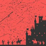 Siege of the Castle Vector Illustration Royalty Free Stock Images