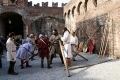 Free Siege Of The Rocca, In Soncino - Lombardy - Italy - 6th And 7th October 2018 Royalty Free Stock Photos - 128171228