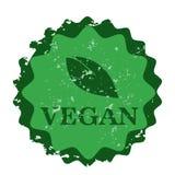 Siegelstempel des strengen Vegetariers Stockbild