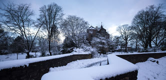 Siegen castle germany in the winter Royalty Free Stock Photography