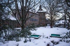 Siegen castle germany in the winter Royalty Free Stock Photo