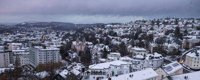 Siegen city germany in the winter Royalty Free Stock Photography