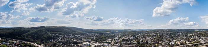 Siegen city panorama germany Stock Images