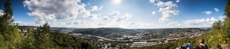 Siegen city panorama germany Royalty Free Stock Image