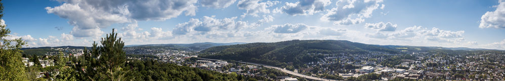 Siegen city panorama germany Stock Image