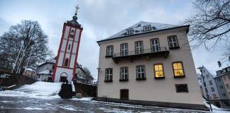 Siegen Germany Nikolai kościół w zimie Fotografia Royalty Free