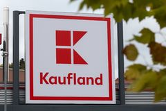 Siegen, North Rhine-Westphalia/germany - 28 10 18: kaufland building sign in siegen germany royalty free stock photography