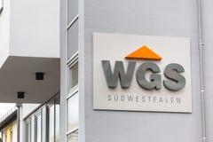 Siegen, North Rhine-Westphalia/germany - 28 10 18: wgs sign in siegen germany stock photos