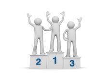 Sieger auf Bedienpult Lizenzfreie Stockbilder