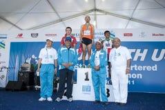 Sieger des Malaysia-Marathons auf Veteranen öffnen sich Lizenzfreies Stockfoto