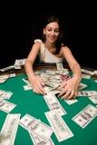 Sieger im Kasino Stockbilder