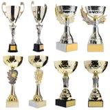Sieger ` s Cup, Silber, Goldpreis im Wettbewerb Trophäe in c Lizenzfreie Stockfotografie