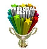 Sieger-Trophäen-Stolz der persönlichen Bestleistung in der Durchführung Lizenzfreies Stockbild