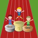 Siegerathleten Stockbild