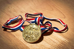 Siegergoldmedaille Lizenzfreies Stockbild