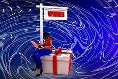 Siegerillustration der Frau 3D Lizenzfreie Stockbilder