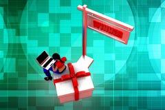 Siegerillustration der Frau 3D Lizenzfreie Stockfotos