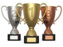 Siegermeisterschaft 1, 2, 3 Lizenzfreies Stockbild