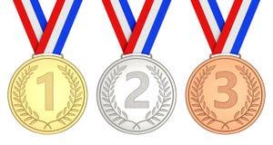 Siegermeisterschaft 1, 2, 3 Stockfotos