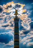 Siegessäule - Berlińska zwycięstwo kolumna zdjęcia royalty free