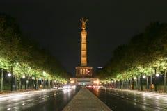 Siegessäule in berlin,Germany. Siegessäule in berlin at night ,Germany stock photography