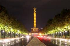Siegessäule in berlin,Germany. Siegessäule in berlin at night ,Germany stock photos