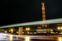 Siegessäule at night berlin,Germany. Siegessäule in berlin,Germany stock photography