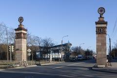 Siegesspalte St Petersburg Lizenzfreies Stockbild
