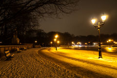 Siegess�ule in winter Royalty Free Stock Image
