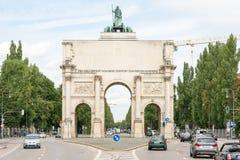 Siegestor à Munich Photographie stock