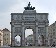 Siegestor in Munich Stock Photos