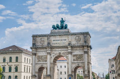 Siegestor, the triumphal arch in Munich, Germany Stock Image