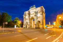 Siegestor Victory Arch Munich Germany Stock Photo