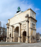 Siegestor (Victory Gate) in Munich, Bavaria, Germany Royalty Free Stock Image