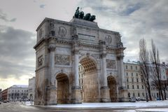 Siegestor, Victory Gate of Munich Germany Royalty Free Stock Photography