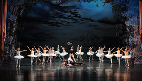 Siegfried defeated the demon-The prince adult ceremony-ballet Swan Lake Stock Images