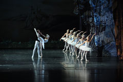 Siegfried met by Robert Bart curse Princess Ojta, she is a swan in the daytime, but at night will be a girl-ballet Swan Lake. In December 20, 2014, Russia's St Stock Image