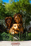 Siegfried and Roy Monument, Las Vegas, NV. Royalty Free Stock Image