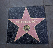 Siegfried & Roy star in Hollywood Walk of Fame Royalty Free Stock Photo